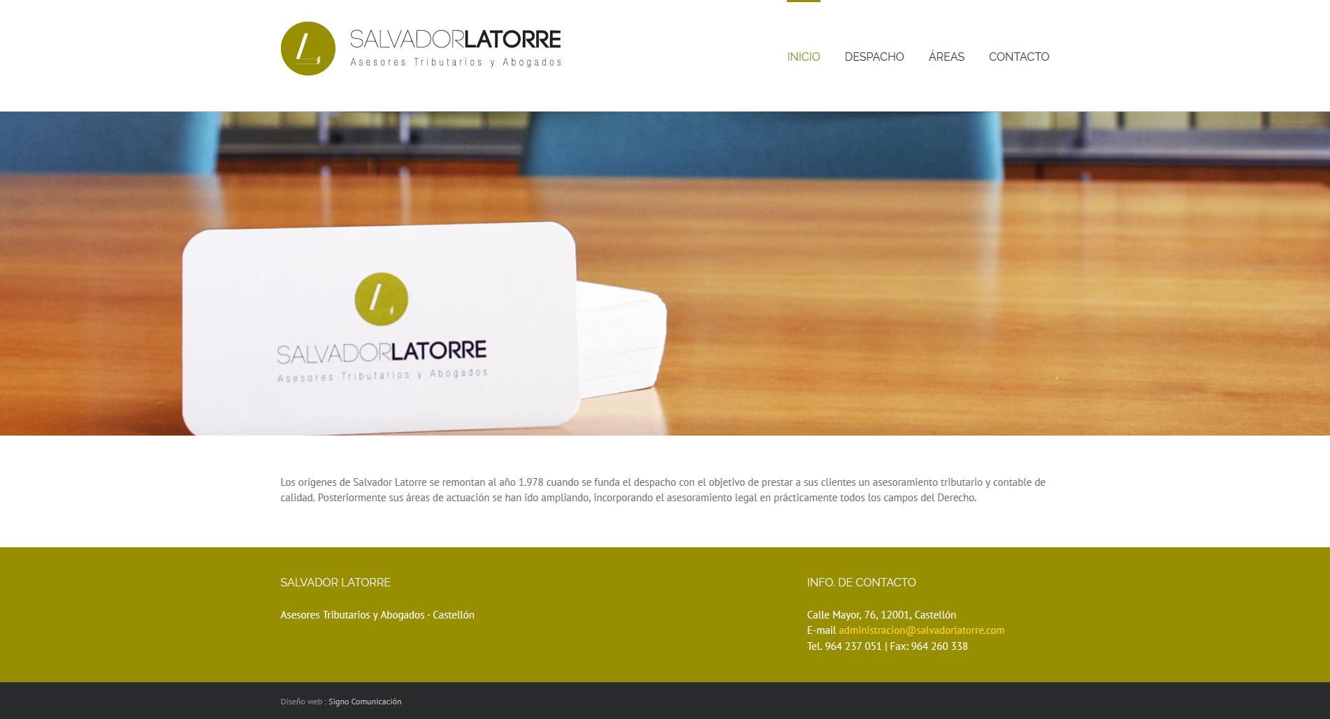 Web de SALVADOR LATORRE