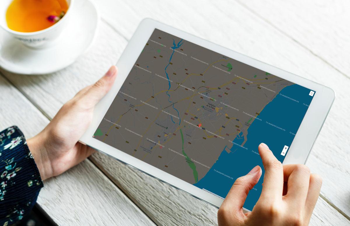 ¿Por qué no se ve correctamente el mapa de google en mi web?