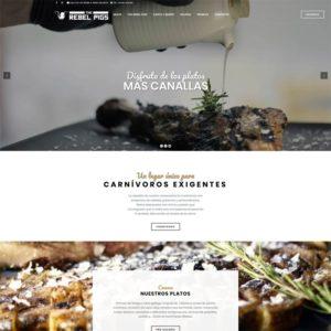 The Rebel Pigs diseño web